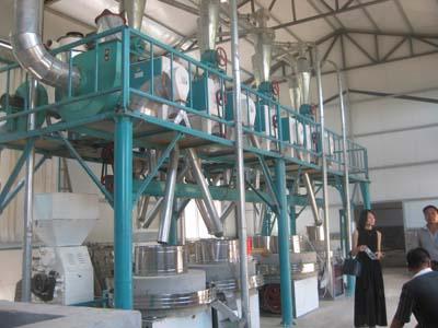 现代化的石磨面粉机械设备